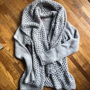 {anthro} Elsamanda Open Knit Cardigan